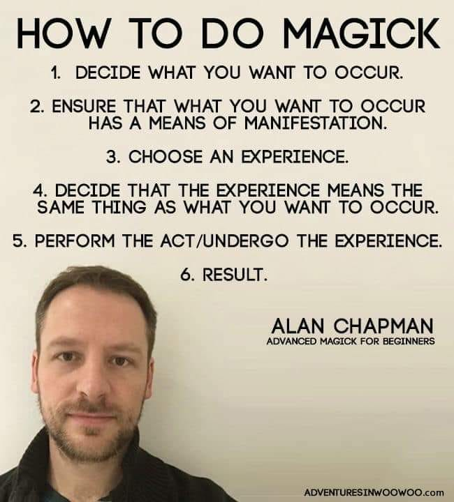 Alan Chapman quote about magick