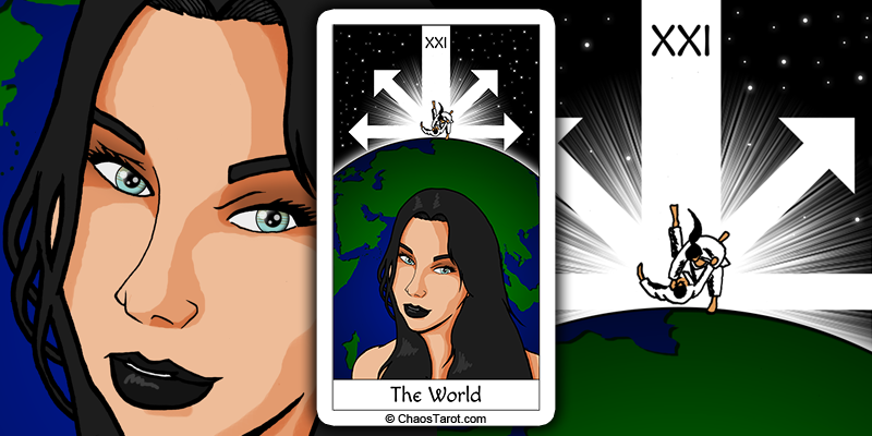 tarot card, the world