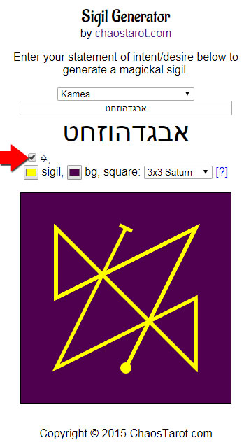 Sigil Generator with Hebrew