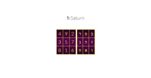 saturn kamea