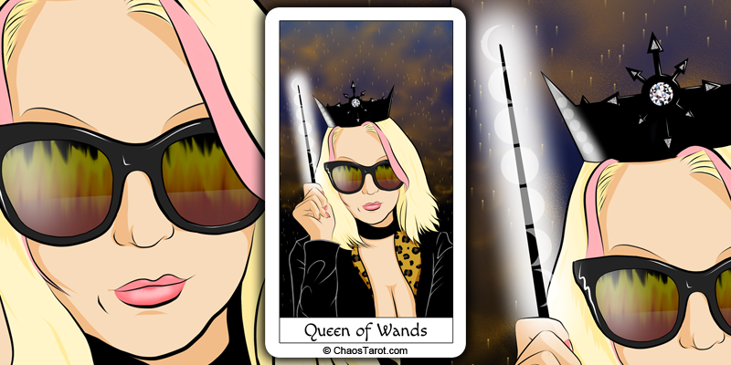 tarot card, queen of wands